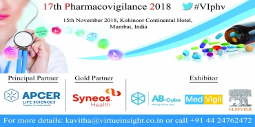 17th Pharmacovigilance 2018 15th November 2018, Kohinoor Continental Hotel, Mumbai, India